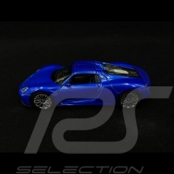 Porsche 918 Spyder pull back toy Welly metallic blue MAP01019420