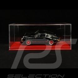 Vitrine 1/18 pour miniature Porsche Base rouge simili cuir qualité premium