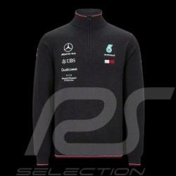 Tommy Hilfiger Knitted quarter-zip sweater Mercedes-AMG Petronas Black 141191036150 - men