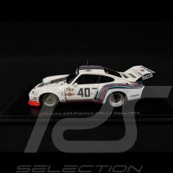 Porsche 935 n° 40 Martini racing Voiture d'entrainement Le Mans 1976 1/43 Spark S4753