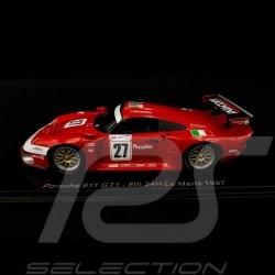 Porsche 911 GT1 type 993 n° 27 8th Le Mans 1997 1/43 Spark S5604