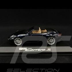 Porsche 911 Carrera S cabriolet type 992 2019 night blue 1/43 Minichamps WAP0201710K