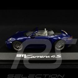 Porsche 911 type 992 Carrera 4S Cabriolet 2019 gentian blue 1/43 Minichamps WAP0201730K