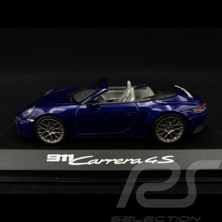 Porsche 911 type 992 Carrera 4S Cabriolet 2019 bleu gentiane 1/43 Minichamps WAP0201730K