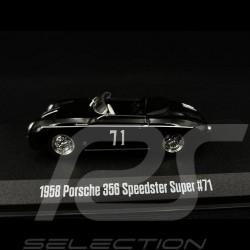 Porsche 356 Speedster Super 1958 n° 71 black 1/43 Greenlight 86538