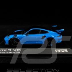 Porsche 911 GT3 RS typ 991.2 Pack Weissach 2019 Riviera blau Sehr selten 1/43 Minichamps 413067037