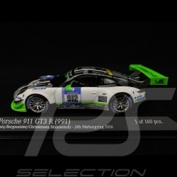 Porsche 911 GT3 R typ 991 n° 912 24h Nürburgring 2016 1/43 Minichamps 437166612