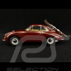 Porsche 356 A Carrera Coupé 1956 Skiurlaub bordeau 1/18 Schuco 450030000