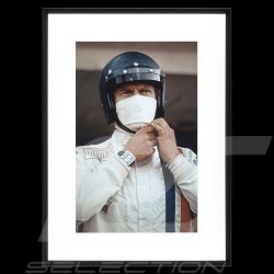 Luxusrahmen Wandkunst Steve McQueen Le Mans 1970 Monaco TAG Heuer 70 x 95 cm