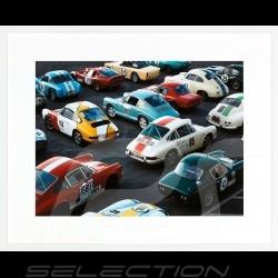 Luxusrahmen Wandkunst 911 Nürburgring Grand Prix 85 x 105 cm