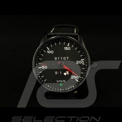 Porsche 911 250 km/h speedometer Watch black case / black dial / white numbers