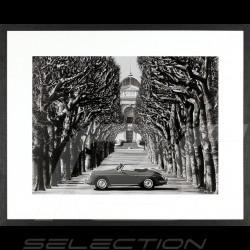 Wall Art Luxury frame 356 Roadster in Paris 85 x 105 cm