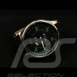 Montre Watch Uhr 911 classique compteur de vitesse speedometer Tachometer boitier chrome  / fond noir
