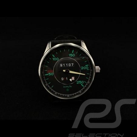 Watch 911 Classic  speedometer chrome case / black dial