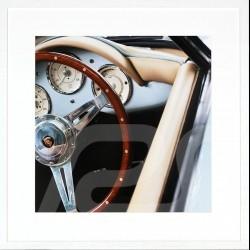 Luxusrahmen Wandkunst Porsche 356 Lenkrad 85 x 85 cm