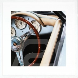 Wall Art Luxury frame Porsche 356 Steering wheel 85 x 85 cm