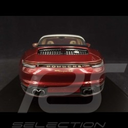 Porsche 911 Targa 4S type 992 Heritage Design Edition Cherry red 1/18 Spark WAP0219110MTRG