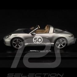 Porsche 911 Targa 4S type 992 Heritage Design Edition Gris argenté GT  1/18 Spark WAP0219120MTRG