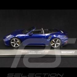 Porsche 911 Turbo S Cabriolet type 992 Gentian blue 2020 1/18 Minichamps 155069081