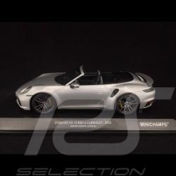 Porsche 911 Turbo S Cabriolet type 992 Gris argenté GT 2020 1/18 Minichamps 155069082