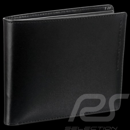 Porsche Design wallet Classic Line 2.1 H10 Credit card holder 3 flaps Black leather 4090002487