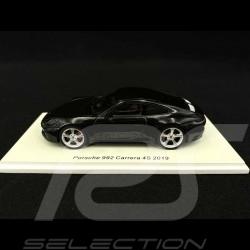 Porsche 911 Carrera 4S type 992 2019 noir 1/43 Spark S7835