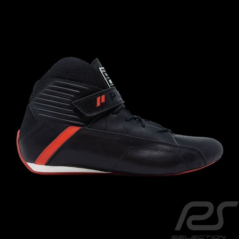 Piloti Pilot shoes Pinnacle FIA Black Leather boot - men