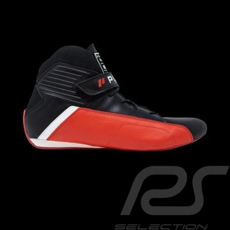 Piloti Pilot shoes Pinnacle FIA Red / Black Leather boot - men