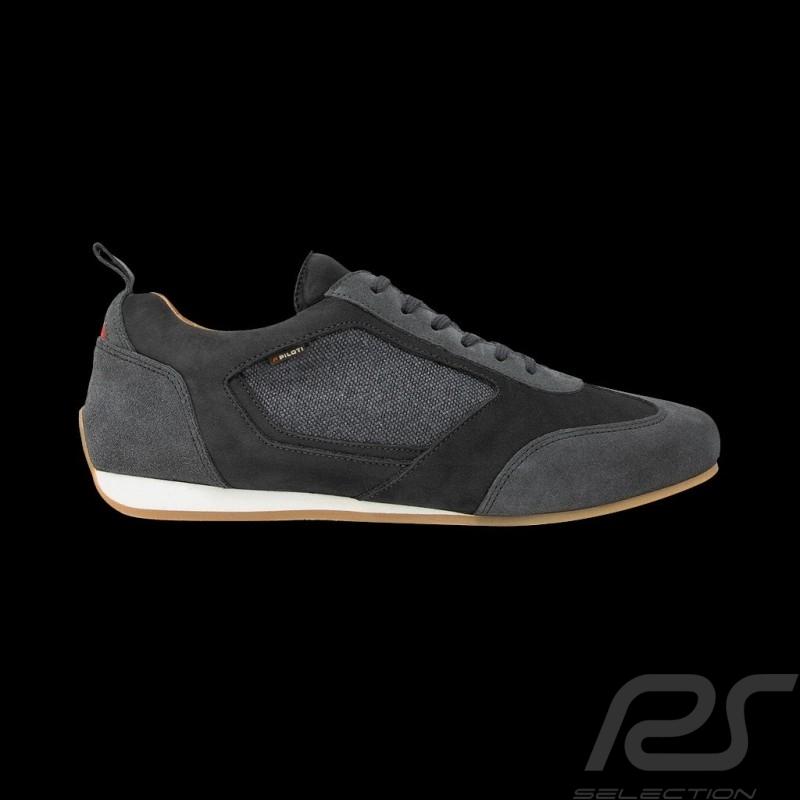 Driving shoes Piloti Sport sneaker 24h Le Mans Slate grey Leather - men