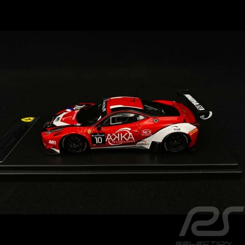 Ferrari 458 Italia AKKA ASP n° 10 Monza Blancpain 2015 1/43 Looksmart LSRC00-A