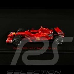 Ferrari F2007 n° 5 Felipe Massa 2ème GP F1 Brésil 2007 1/43 Red Line RL149
