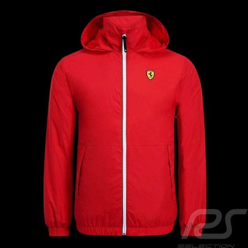 Ferrari Windbreaker Jacket Red Scuderia Ferrari Official Collection - men