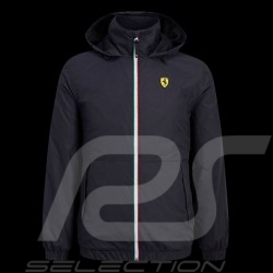 Ferrari Windbreaker Jacket Black Scuderia Ferrari Official Collection - men