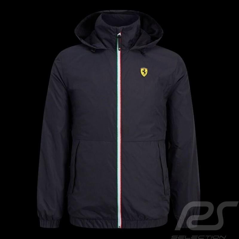 Ferrari Windbreaker Jacket Black Scuderia Ferrari Official Collection - men
