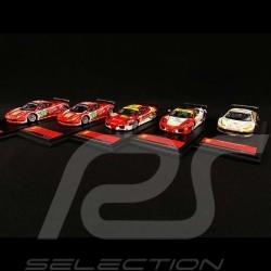 Set mit 5 Ferrari 24H Le Mans 2011 1/43 Fujimi