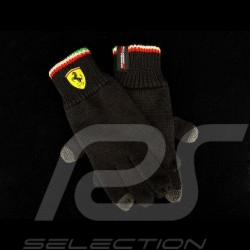 Ferrari knit gloves for touch screen Black