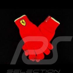 Gants Ferrari en tricot pour écran tactile rouge