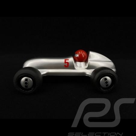Vintage Rennwagen für Kinder Rot / Silber Holzauto Schuco 450987000