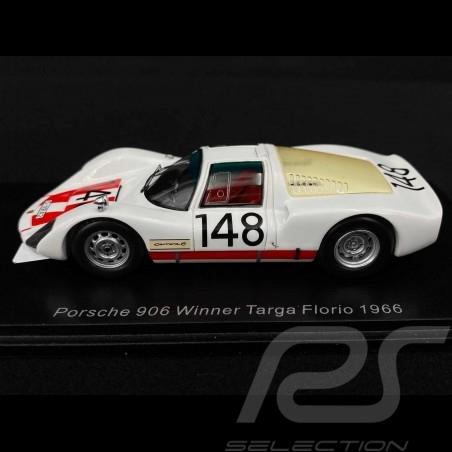 Porsche 906 Vainqueur Winner Sieger Targa Florio 1966 n° 148 1/43 Spark 43TF66