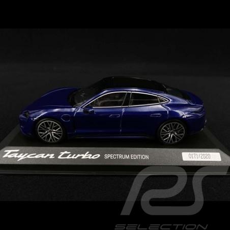 Porsche Taycan Turbo Spectrum Edition 2020 gentian blue 1/43 Minichamps WAP0200880M003