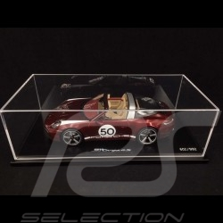 Copy no. 011 / 992 Porsche 911 Targa 4S type 992 Heritage Design Edition Cherry red 1/18 Spark WAP0219110MTRG