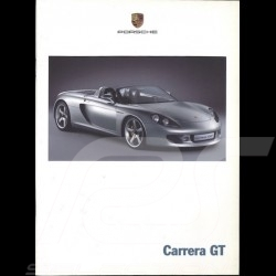 Porsche Brochure Carrera GT Concept 09/00 in german and french ref WVK178813
