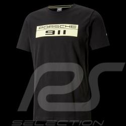 T-shirt Porsche 911 Puma Big logo Noir / vert Black / green Schwarz / Grün - homme