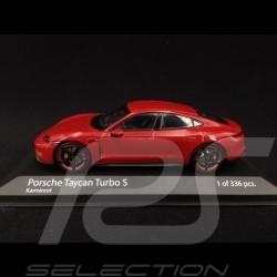 Porsche Taycan Turbo S kaminrot 1/43 Minichamps 410068472