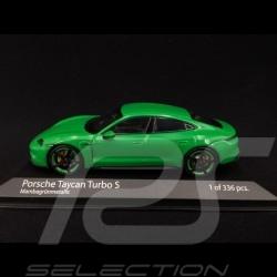 Porsche Taycan Turbo S Python grün 1/43 Minichamps 410068471