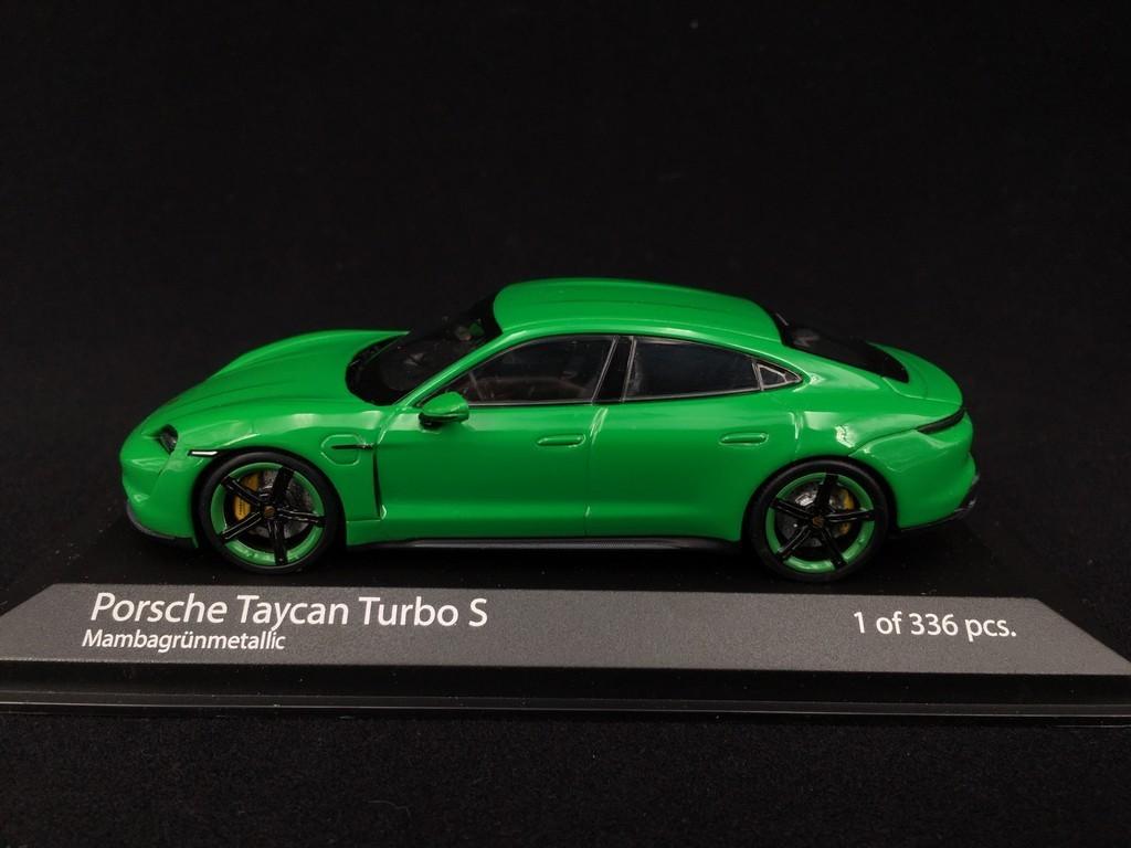 Porsche Taycan Turbo S Python Green 1 43 Minichamps 410068471 Selection Rs