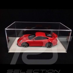 Vitrine 1/18 pour miniature Porsche Base Alcantara Beige qualité premium