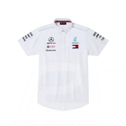 Mercedes Hemd AMG Motorsport halbem Arm Weiß Mercedes-Benz B67996083 - Herren