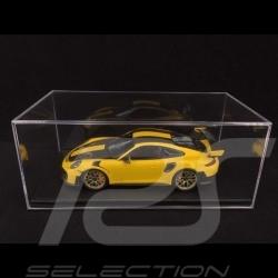 Vitrine 1/18 pour miniature Porsche Base simili cuir noir qualité premium