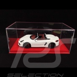 1/18 Vitrine für Porsche Modelle Boden rotes Alcantara premium quality